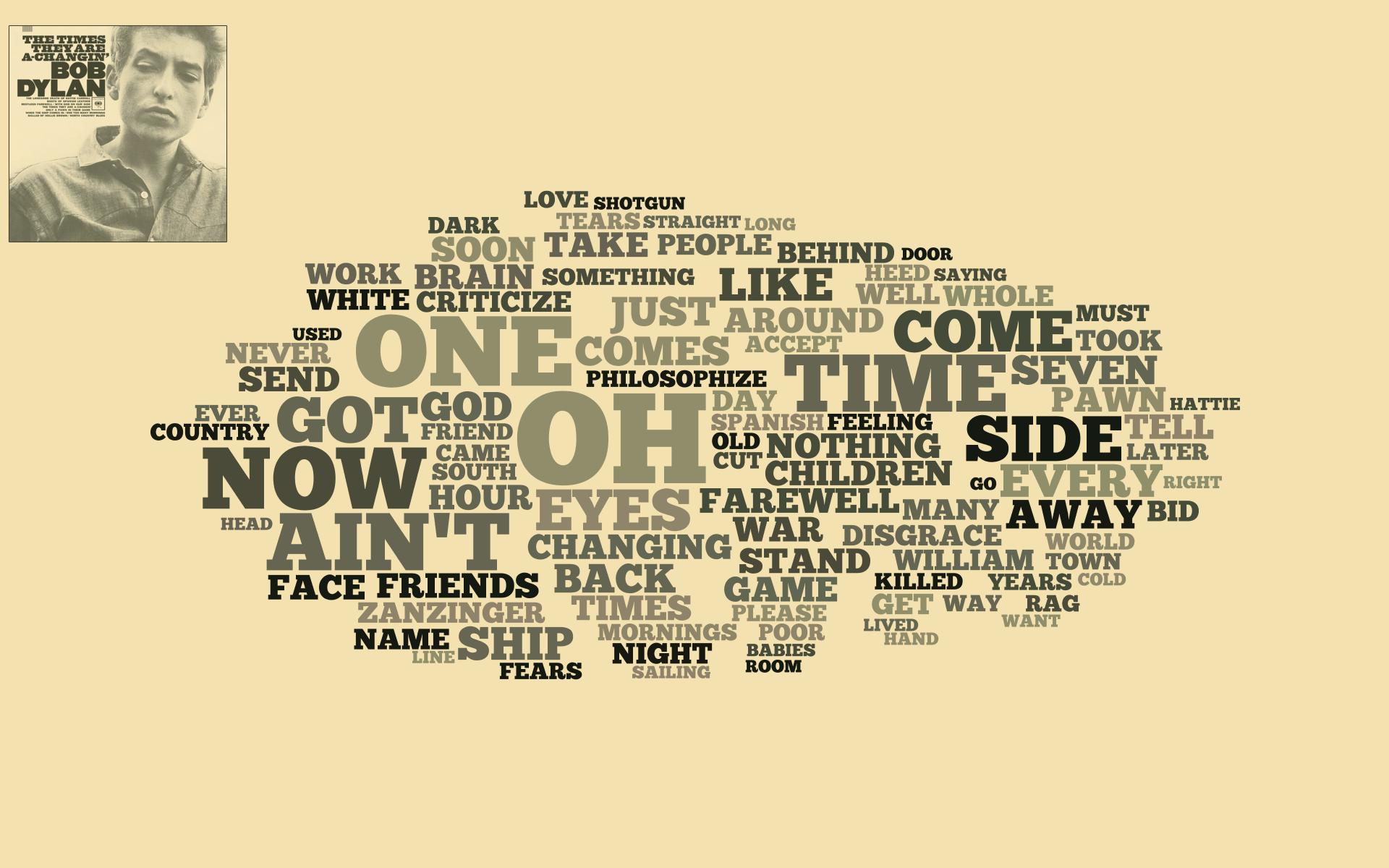 Bob Dylan Word Clouds - Graham English @grahamenglish